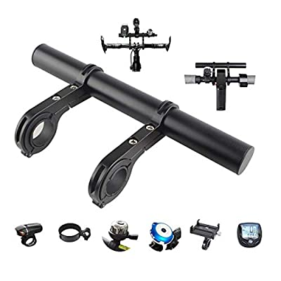 Tinke Handlebar Extender Bicycle Aluminum Alloy Bracket Extension Double Handlebar Extension Mount Holder Use for XIAOMI M365 Ninebot ES1 ES2 and Mountain Bicycle
