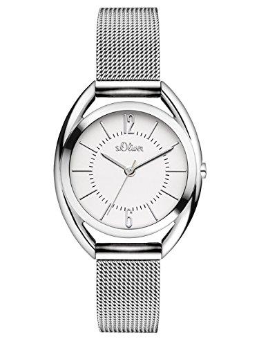 s.Oliver Time Damen-Armbanduhr SO-3323-MQ, silber