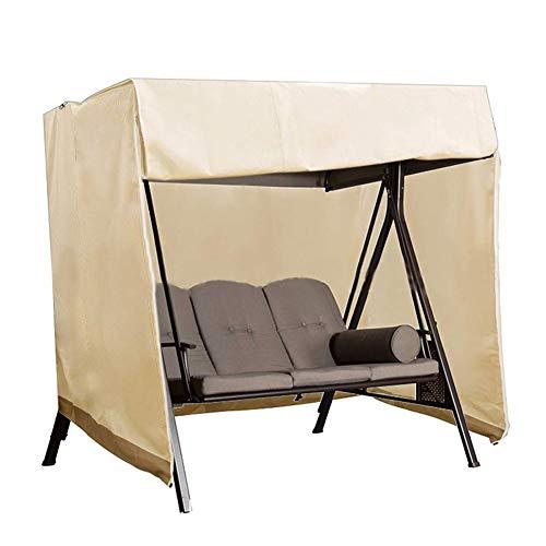 Schutzhülle für Hollywoodschaukel, 190T Wasserdicht Polyeste Staub UV-beständig Abdeckung Für 3-Sitzer Gartenschaukel mit 2 Reißverschlüssen,223 * 152 * 183cm