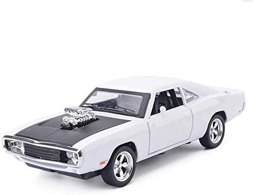 De fundición inyectada de 1:32 Escala de Dodge 1970 Caballo de guerra Modelo de coches, juguetes for niños w / Sound & Light Tire del modelo del coche de juguete coche coches decoración de
