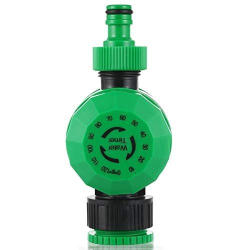 SCAYK Inicio Impermeable 2 Horas electrónico automático Temporizador de riego de jardín Controlador de riego riego de Jardines riego, riego de contro (Color : Green)