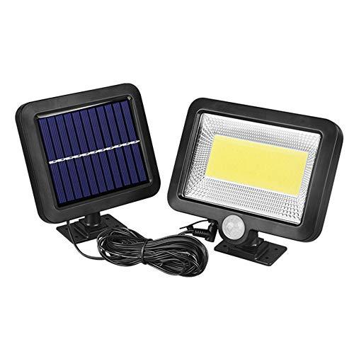 Galapara 100COB Solares Leuchte mit Bewegungsmelder für Indoor/Outdoor wasserdichte Solar Leuchte für außen,Lager, Patio,Deck, Balkon,Hof, Außenwand