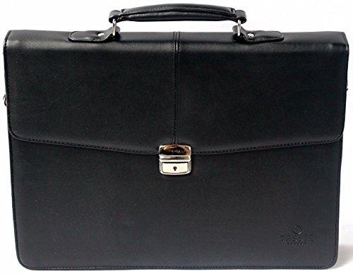 """Tassia - valigetta ventiquattrore per laptop 16"""" - con tracolla - finta pelle"""