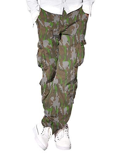 Eshal Fashion Pantalones cargo militares para hombre, pantalones de ocio chinos para...