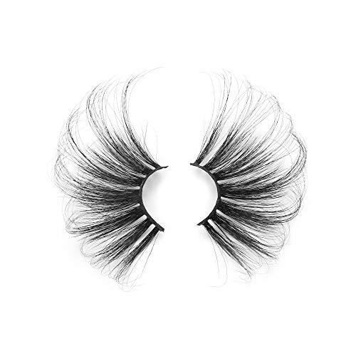 ETGUN 70mm False Eyelashes 1 Pair Dramatic Criss-cross Super Long Lash Extension 70mm Lashes 100% 3D Mink Hair(R006)