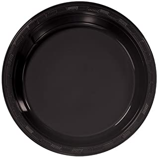 Hanna K. Signature Collection 50 Count Plastic Plate, 10-Inch, Black (B007WM22X2) | Amazon price tracker / tracking, Amazon price history charts, Amazon price watches, Amazon price drop alerts