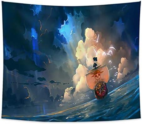 Ksainiy 新作続 Tapestry ONE Piece: Monkey D. 秀逸 Luffy Printing 3D Living