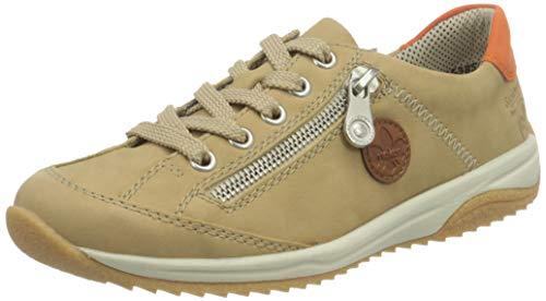 Rieker Damen L5224 Sneaker, Beige, 38 EU