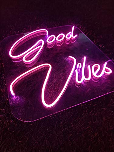 Smart Grow Good Vibes LED Neon Sign Board