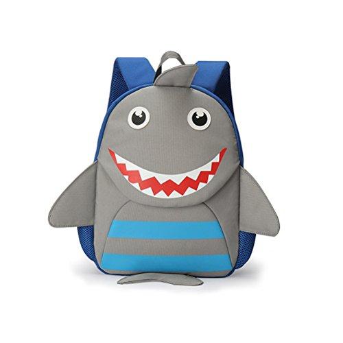 Tinksky Kindergarten-Rucksack für Kinder in der Schule, Schultertasche mit niedlichem Hai-Druck, Geschenk zum Geburtstag zu Weihnachten für Jungen und Mädchen