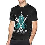 XCNGG Camiseta de manga corta para hombre con diseño de espada Art Online Negro L