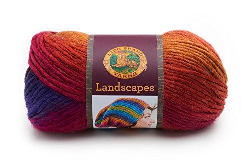 Lion Brand Yarn 545–109Hilo paisajes, Acero Azul