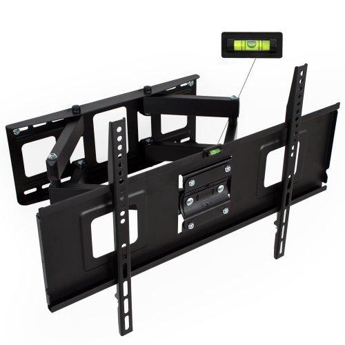 """TecTake 400966 TV Wandhalterung, neigbar & schwenkbar, VESA max 600x400, für 81-165cm (32 - 65\""""), belastbar bis 120kg, schwarz"""