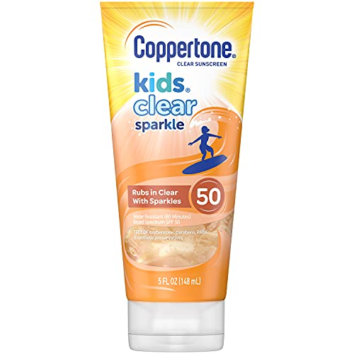 Coppertone Kids Clear Sparkle SPF 50 Sunscreen Lotion Now $3.80 (Retail $11.99)