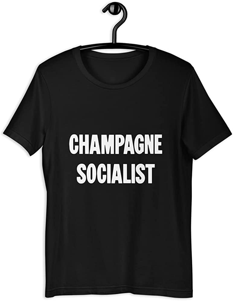 New Black Time sale Novelty Comedy Political Superior T-Shirt Socialist I Champagne