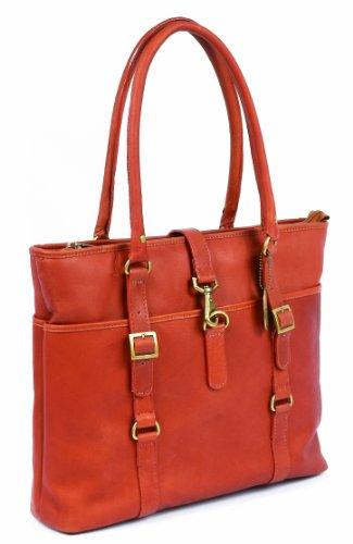 Claire Chase Ladies Computer Handbag, Saddle, One Size
