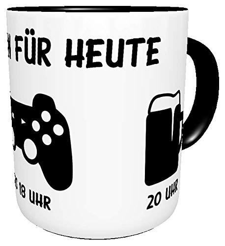 Kinderlampenland KaffeeTasse Mein Plan für Heute lustiger Spruch Sprüche Büro Geburtstagsgeschenk Hobby inkl. Geschenkverpackung (Gamer)