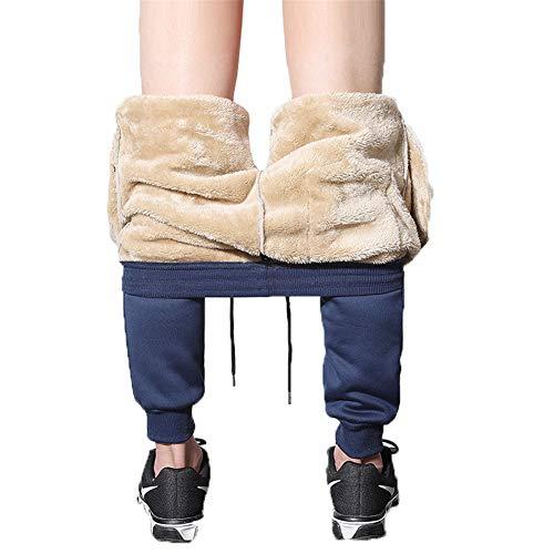 Mintiml heren Sherpa Fleece gevoerde atletische joggingbroek dikke atletische broek warme Joggers winter