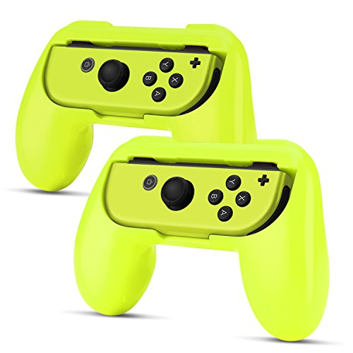 TNP Nintendo Switch Joy-Con Grip (2 Pack) - Comfortable Grip Wear Resistant Joy-Con Handle Game Controller Kit Accessory for Nintendo Switch (Yellow)