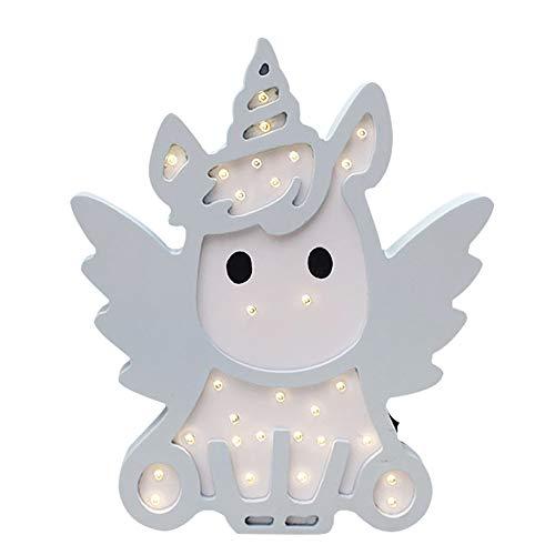 Einhorn Engel Form LED Nacht Lampen Holz Stimmung Lichter Marquee Licht Zeichen Tischlampen Wanddekoration Mädchen Baby Zimmer Weihnachten Hochzeit LED Licht Zeichen