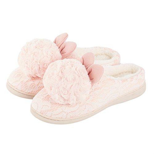 DWW-Taihewen firms Slippery Dame rutschige im Freien Breathable Komfortschuhe der Baumwollhefterzufuhr (Farbe : Pink, größe : EUR:38-39)