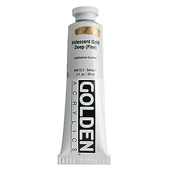 Golden Heavy Body Acrylic Paint 2 Ounce Iridescent Gold Deep Fine