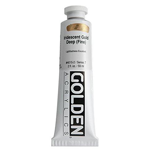 Golden Heavy Body Acrylic Paint, 2 Ounce, Iridescent Gold Deep Fine