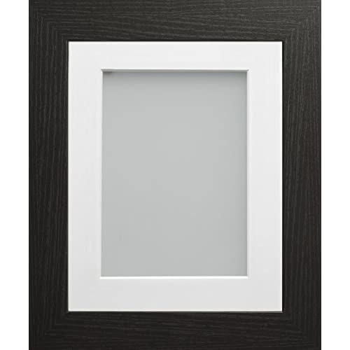 a7f9b4e370d Frame Company Watson Range 9 x 7-inch Black Picture Photo Frame with White  Mount