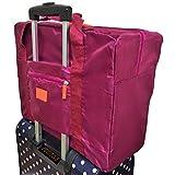 【ポジティブ】 折りたたみ トラベルバッグ 32L 機内持込可 スーツケース の持ち手に通せる 手のひらサイズの ボストンバッグ 旅行バッグ 保証書付き (ワインレッド)