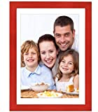 Gocomcom 6x8 Picture Frames Freestanding and Wall Mountable, Solid Wood Photo Frame with HD Plexiglass, Redwood
