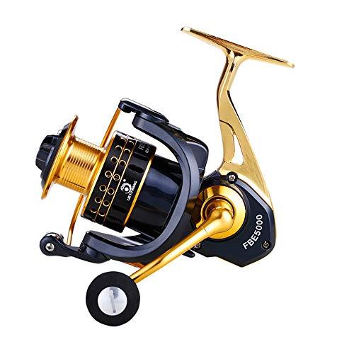 DIYARTS FBE1000-3000 Carrete Giratorio Pesca Proceso CNC Cuerpo Metal Izquierda Derecha Carrete Pesca Ajustable Accesorio (FBE2000)