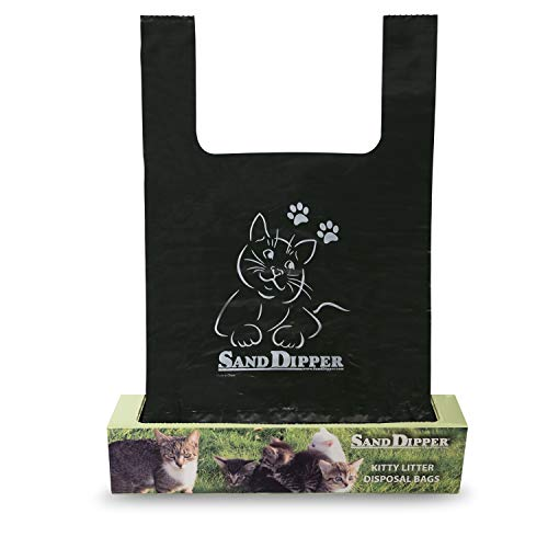 Sand Dipper Cat Litter Waste Bags | Strong Thick Odor Sealing Medium 50 Roll