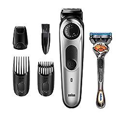 Brązowy trymer do brody BT5265 i obcinacz do włosów dla mężczyzn, ustawienia długości 39, czarny/srebrny metaliczny