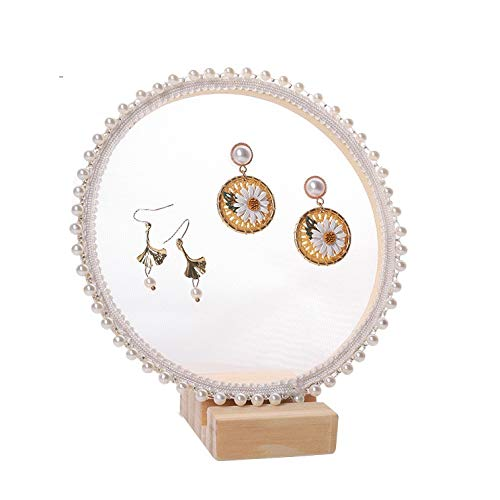 Aiglen Soporte para exhibición de joyas, pendientes, mostrador de joyas, soporte para exhibición, organizador de joyas (tamaño: XS