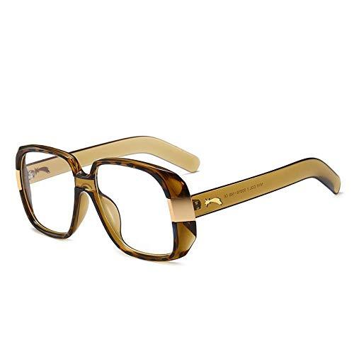 Mujer Hombre Gafas de Sol cuadradas Gafas de meteorito Dorado SombrasUv400 2