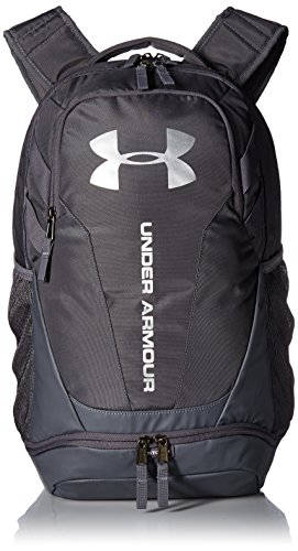 Under Armour Hustle 3.0 Backpack, Graphite (040)/Silver, One Size Fits All