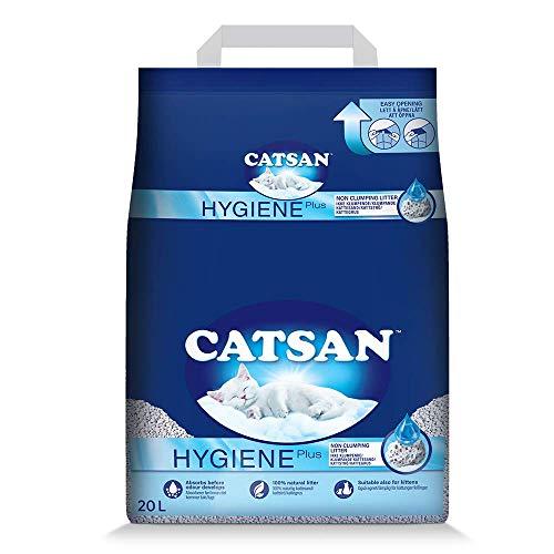 Catsan Hygiene Plus – Weiße Hygienestreu mit Extra-Mineralschutz – 1 x 20 Liter