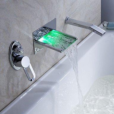 Sprinkle - von lightinthebox - LED Wasserfall Badewanne Wasserhahn mit ausziehbarer Brause (Wandmontage)