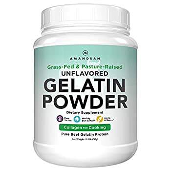 Unflavored Gelatin Powder XL 1KG Grass-Fed Beef Collagen Protein Supplement Healthy Skin Hair Joints & Gut Keto & Paleo Friendly Cooking and Baking 18 Amino Acids Non-GMO  Packaging May Vary