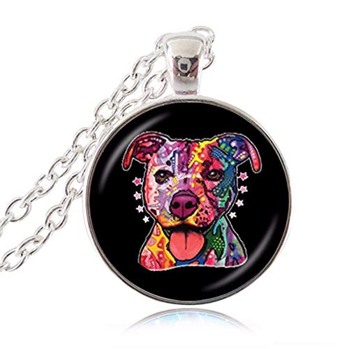 Süßer Bullterrier American Pit Bulldog Pet Puppy Rescue Zubehör Anhänger Schmuck Tierpaar Bulldogge
