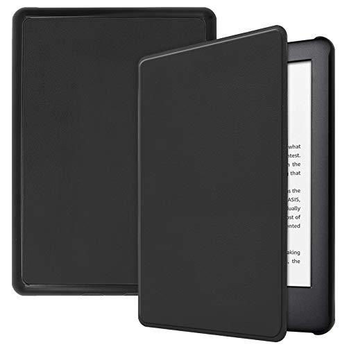Lobwerk Funda para Amazon Kindle 2019 (10. Generación) Funda Smart Cover de 6 Pulgadas con función Atril y función de Encendido y Apagado automático. Negro Negro