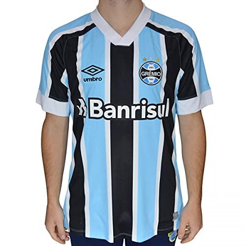 Camisa Gremio Oficial 1 2021, UMBRO, Masculino, Celeste/Preto/Branco, P
