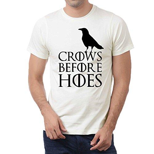 Cuervos antes azadas de Juego de Tronos Jon nieve Noches Stark para hombre T-Shirt