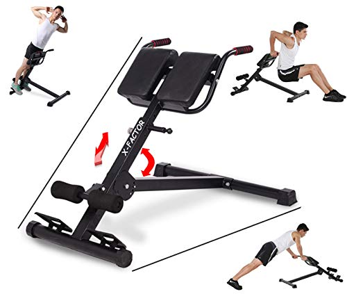 5 Star TD Adjustable Roman Chair Back Hyperextension Bench for Strengthening Abs, Butts and Lower Back AB Sit Up Bench, Abdominal, Back and Legs Strength Training Body Workout Home Gym