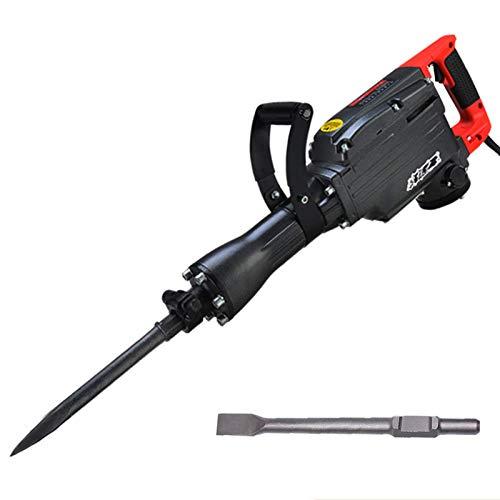 43-Pfund-Abbruchhammer, 1650W Hochleistungs-Betonbrecher-Elektrowerkzeug-Kit mit um 360 Grad drehbarem Griff, 50J Single Impact, Schwarz