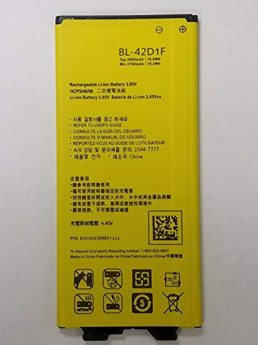 GSParts New Replacement Battery for LG G5 BL-42D1F VS987 H820 LS992 H830 EAC633238901 2800mAh