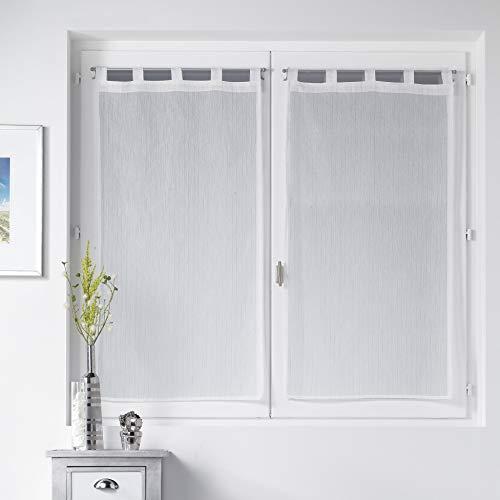douceur d'intérieur 1624275 Paire de Voilage Polyester Imprimé 2 x 60 x 90 cm