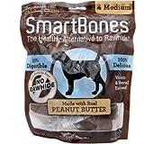 SmartBones mastica con Mantequilla de Cacahuete Real para Perros