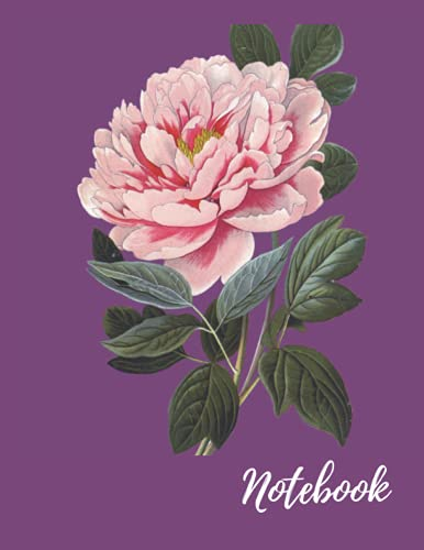 Notebook: A Tree Peony Themed Blank Lined Notebook