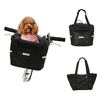 Lixada Panier de Vélo Porte-bagage Panier Animal, Détachable, Support en Alliage D'aluminium